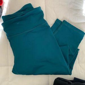 [Fabletics] teal power-hold leggings